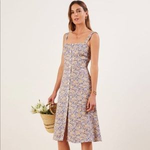 Reformation Persimmon Dress in Dolores 4 Rare